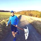 Laufen im Frühling -Airdog