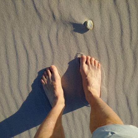 Sandstrand-Halbinsel-Hel