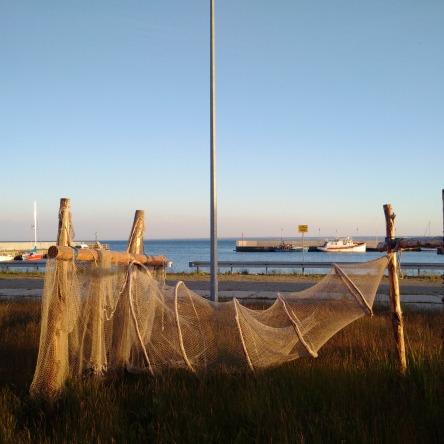 Abendstimmung am Fischereihafen von Jastarnia auf der Halbinsel Hel, Polen