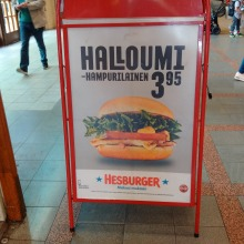 Halloumi Burger Helsinki Central Station