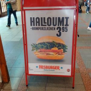 Halloumi Burger Helsinki Central Station